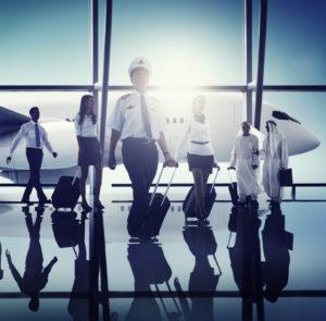 Airport Pilot Cabin Crew Professional Occupation Concept