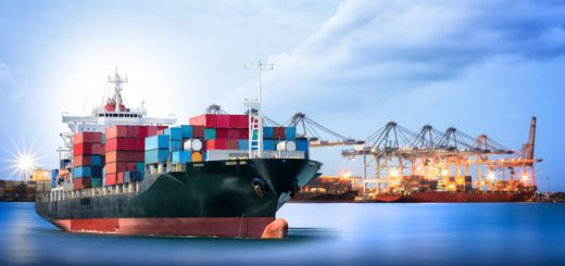Marine Engineering - Logistics and transportation of International Container Cargo ship