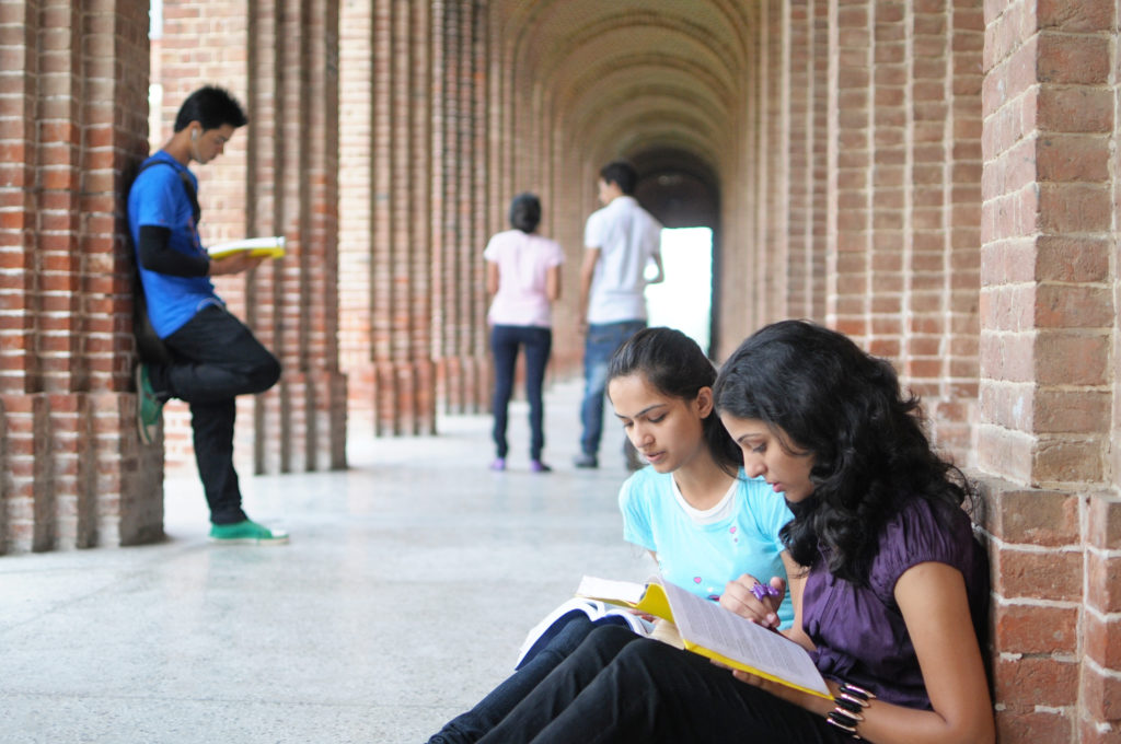 Indian College students preparing for examination. Best BBA Aviation Colleges in Mangalore