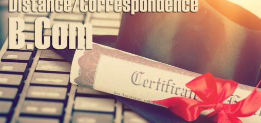 Best BCom Distance Education Correspondence Course